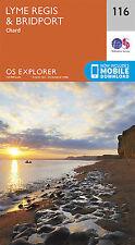 Lyme Regis and Bridport 116 Explorer Map Ordnance Survey With Digital Download