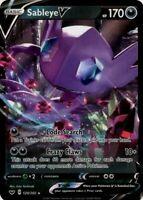 Pokemon TCG Card - Sableye V 120/202 - Ultra Rare Holo - Mint NM