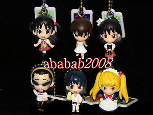 Bandai School Rumble figure keychain gashapon Part.1 (full set of 6 figures)