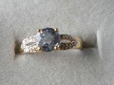 18K PARAIBA TOURMALINE & DIAMOND GOLD RING VERY RARE BEAUTIFUL BLUE COLOUR RARE,