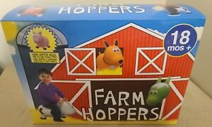 New Kids Pink Pig Farm Inflatable Hopper