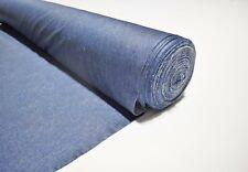 """Washed Indigo Denim Look 2 Way Stretch Apparel 58"""" Wide Fabric By The Yard"""