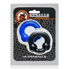 Oxballs TPR Ultraballs 2-Pack C-ring Black + Police Blue NEW