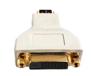 Beige Gold Plated DVI 24+1 DVI-D Female to HDMI Male Convert Adapter