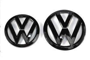 LOGO VW CALANDRE + COFFRE GOLF VI 6R MK6 NOIR BRILLANT