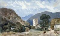 ON THE KESWICK ROAD LAKE DISTRICT Small Watercolour Painting - 19TH CENTURY