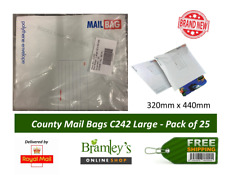 More details for county polythene envelope mail bags large (pack of 25) c242 320mm x 440mm