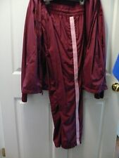 Women's NIKE pant jacket SzM/XL Burgundy 3pc pulloverAustin top jogging suit L44