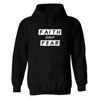 Faith over Fear Mens Printed T Shirt Hoodie Christian Tee Xmas Inspired Top Tees