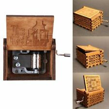 Retro Wooden Hand Crank Engraved Handmade Music Box Kid Gift Toy -The Godfather