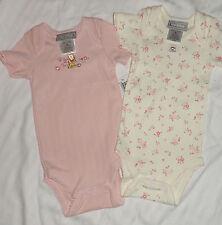 Nuevo Disney Winnie Pooh 3-6 Meses 2 Piezas Rosa Blanco Crudo Bodis verano bebé