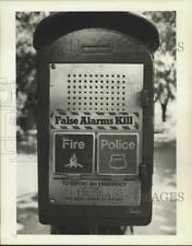 1983 Press Photo Fire/Police Department Alarm Box - sia01511