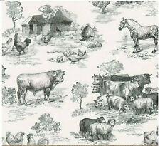 Robert Kaufman Down Farm Black Farm Toile  AGBD186452 fabric