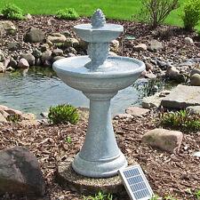 Outdoor Waterfall Led Lights Solar on Demand Birdbath Home Garden Water Fountain