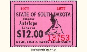 SD Antelope 1977 $12.00 (pink) *SALE*
