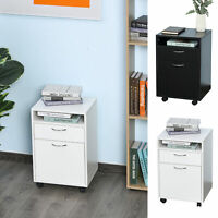 Home Rolling File Cabinet Mobile Printer Cart Nightstand Office Filing Organizer