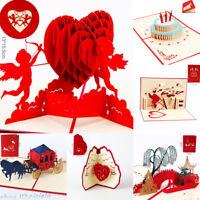 3D Handmade Gift Pop Up Greeting Card Anniversary Valentine Birthday Party