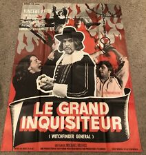 LE GRAND INQUISITEUR Affiche de film  - 120x160 cm. - 1968 - Vincent Price