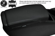 GREY STITCH ARMREST LID LEATHER COVER FITS NISSAN QASHQAI J11 2013-2016