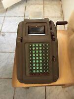 ~Vintage~ Antique Smith Corona Hand Crank Calculator Adding Machine