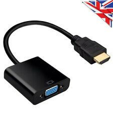 Input HDMI to HD VGA Output Cable Converter Adapter PC DVD TV Monitor