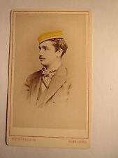 Heidelberg - Corps Suevia - 1877 - Georg Buch - CDV / Studentika koloriert
