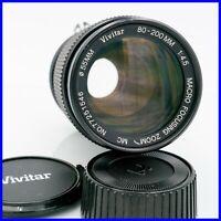 VIVITAR 80-200mm f4.5 MACRO nikon F mount lens zoom mf vintage obiettivo film