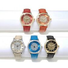 Manhattan by Croton Set of 5 Glitter Dial Strap Watches Full Set of 5 Each Boxed
