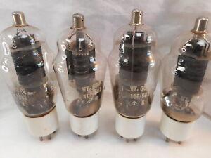 4 x 807 VT60A Cossor Ceramic Base Valves Tubes NOS
