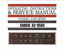 SANSUI AU-9500 INT ST AMP OPERATING INSTRUCTIONS AND SERVICE MANUAL PRINTED ENG