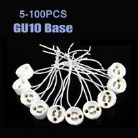 5-100PC High Quality Base Wire Connector Socket 15CM GU10 for Halogen LED Bulbs