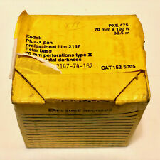 New listing Kodak Plus-X professional film 2147 perforations type Ii 70mm x 100ft Pxe 475