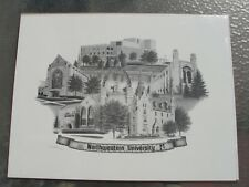 NORTHWESTERN UNIVERSITY Limited Edition 20/950 Sign Lithograph -Robin Lauersdorf