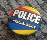 The Police Synchronicity Rock Band Album Badge Button Pin Pinback - England made