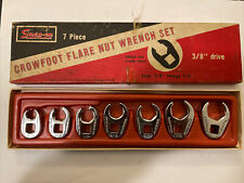 Snap On Tools 207sfrh 7 Piece 6 Point Sae Flare Nut Crowfoot Wrench Set Usa