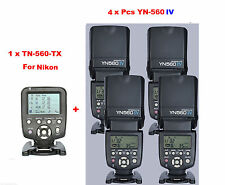 Yongnuo YN560-TX N  Wireless Flash Controller for Nikon + 4 Pcs YN-560IV Flash