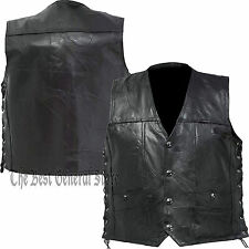 ce3f8106 Leather Concealed Carry Vest Diamond Plate Rock Design Genuine Buffalo 2xl
