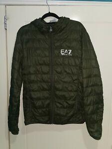 Emporio Armani EA7 Mens Summer Duck Down / Feather Jacket Size Medium green
