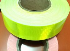 3M Yellow Fluorescence Pure Safety Reflective Car Wall Sticker Warning Tape Roll