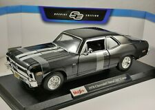 1970 CHEVROLET NOVA SS COUPE in Black 1/18 scale model by MAISTO