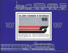 Autriche Bloc 9 (édition complète) oblitéré 1987 150 Années Chemin de fer