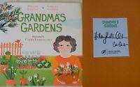 Hillary & Chelsea Clinton Dual Signed 2020 Grandma's Gardens Hardcover Book 1st