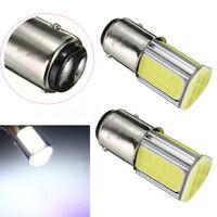 2X P21/5W 1157 BA15D 4 COB LED Brake Turn Signal Rear Light Bulb Lamp White