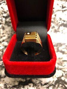 Mens 18k gold ring