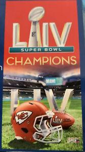 "Kansas City Chiefs Super Bowl LIV Champions 30""X60"" Beach Towel By Wincraft"