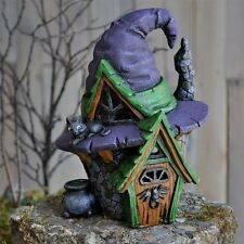Miniature Garden Fairy Witch Hat House  Faerie Gnome Hobbit 16673