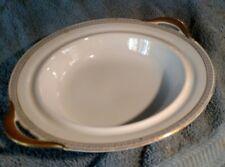 Vntge Tirschenreuth Bavaria Athens 4161 serving bowl with handles lid gold trim