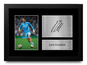 Jack Grealish A4 Manchester City Printed Autographed Picture for Football Fan