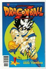 DRAGON BALL Z #1 NM Signed by the Voice of Goku...Peter Kelamis! Viz Select 1999