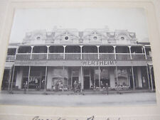 Large postally used Photograph Shops & Shopfronts Toowoomba Queensland Orig